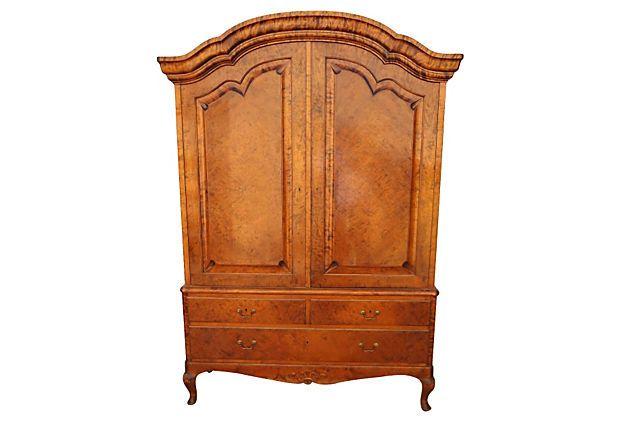 Swedish RococoStyle Birch Armoire -> Armoire Style Baroque