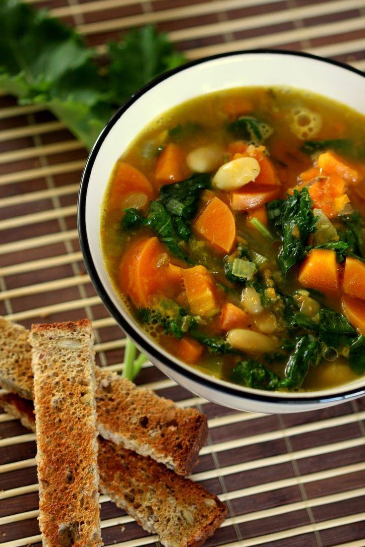 Mixed Vegetable & Kale Soup | Food: Souper Douper | Pinterest