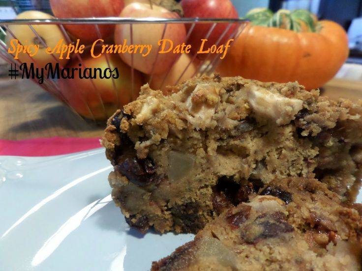 Spiced Apple Cranberry Date Loaf | Weekend Treats | Pinterest