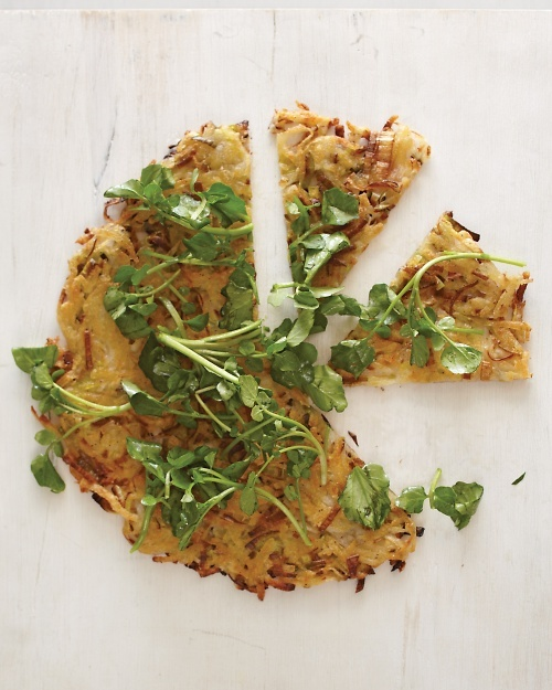 Leek Galette with Watercress - Martha Stewart Recipes | potato leek ...