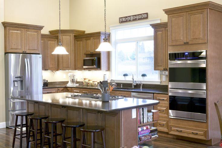Cinnamon Maple Glazed Cabinet  Kitchen  Pinterest