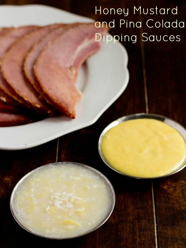 dipping sauce ohsweetbasil.com pina colada or honey mustard dipping ...