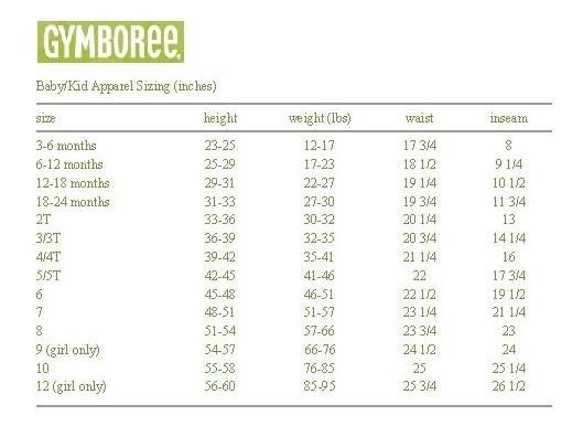 Gymboree Size Toddler Shoes Chart