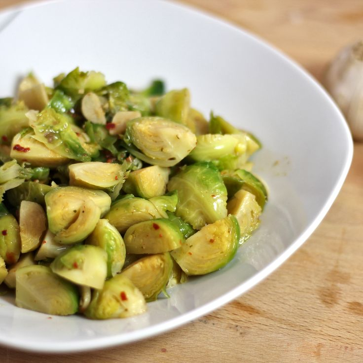 recipe: Asian Style Stir-Fried Garlic Brussels Sprouts | riceandbread