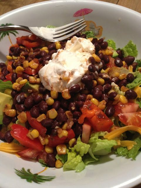 Dressing On the Side: Black Bean Taco Salad to get you from door to ...