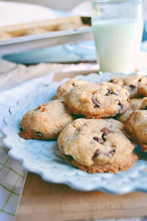 Vegan Chocolate Chip Cookies by The Sweet Life - I modified by adding ...