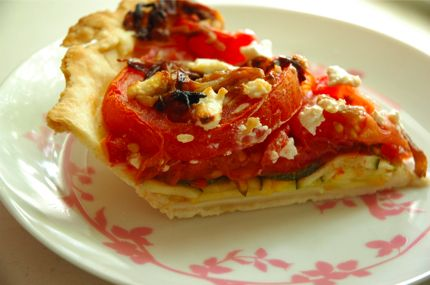 Savory Summer Tart. #mains | Food | Pinterest