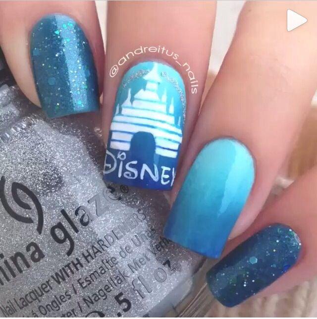 The Enchanting Pinterest disney nail art Images