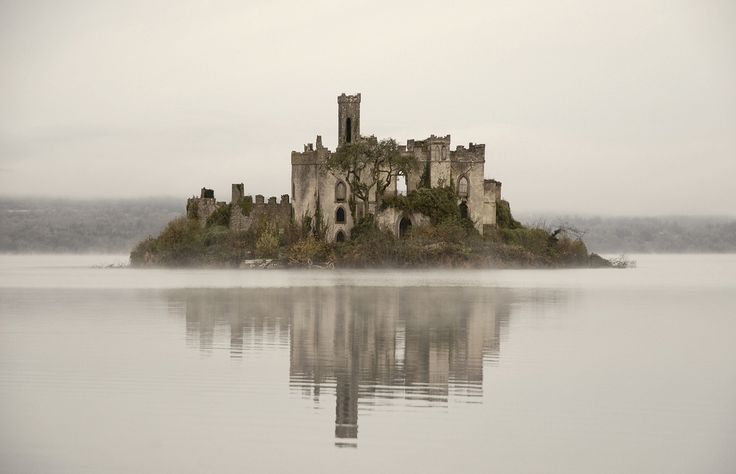 The ruins of Castle Island, Roscommon, Ireland