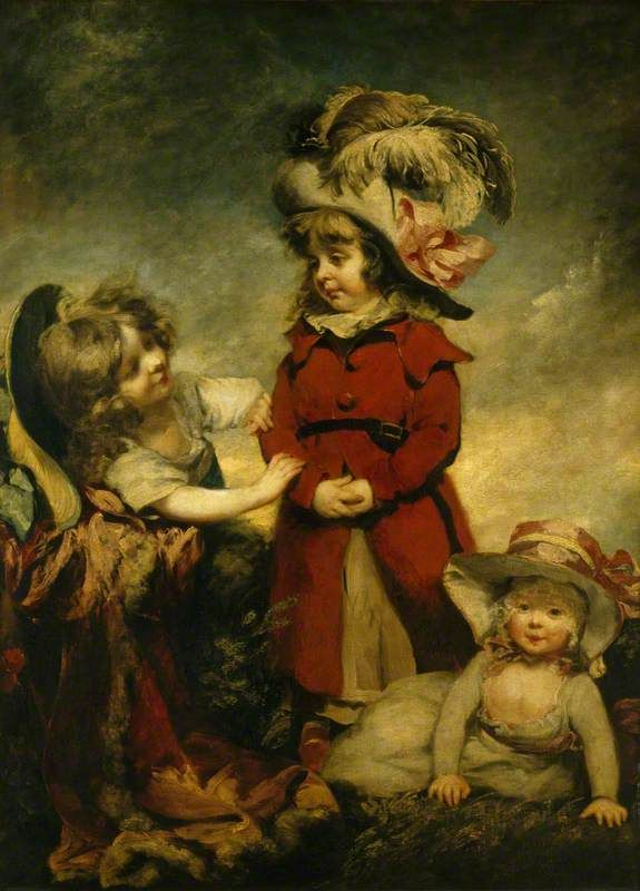Three Children Dressing Up, 1788, by Philip Reinagle National Trust