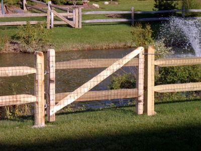 Split Rail Fence With Wire Mesh Organization