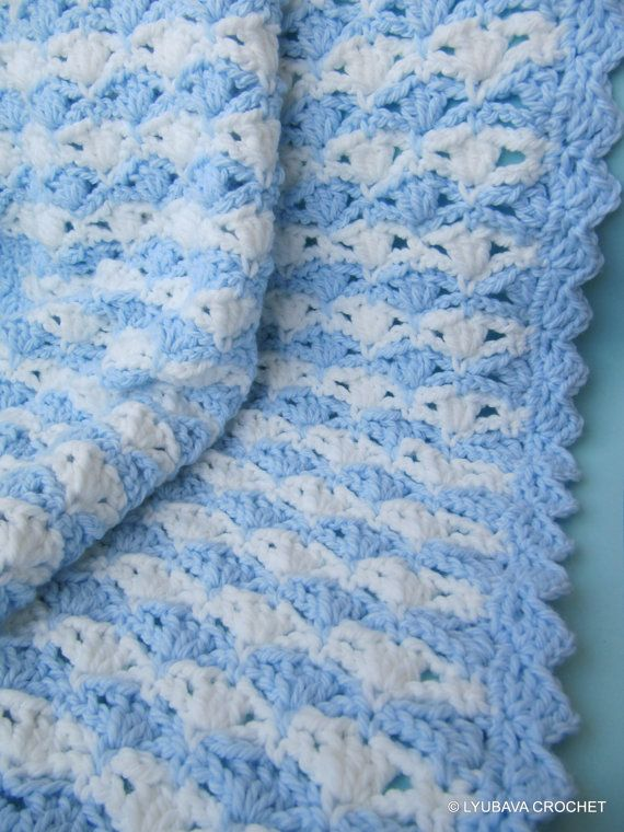 Crochet Patterns Baby Boy Blanket : Crochet Pattern Baby Blanket, Chunky Baby Blanket Pattern ...
