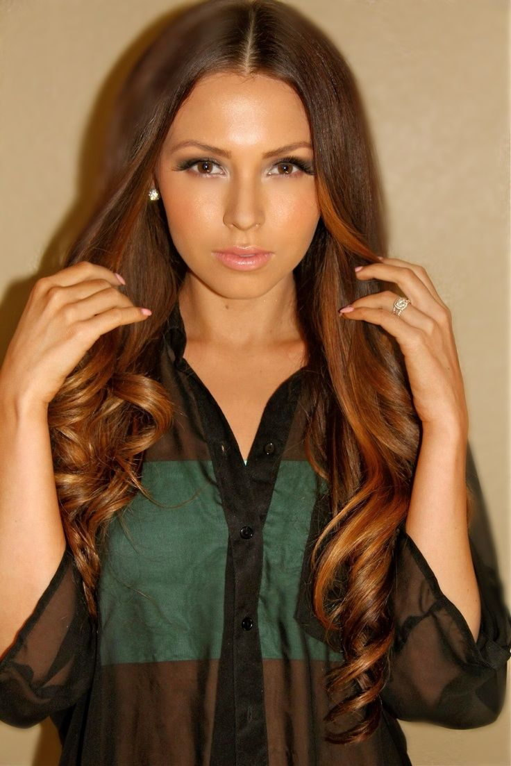 Medium Brown Hair Color With Caramel Highlights Medium brown and ...