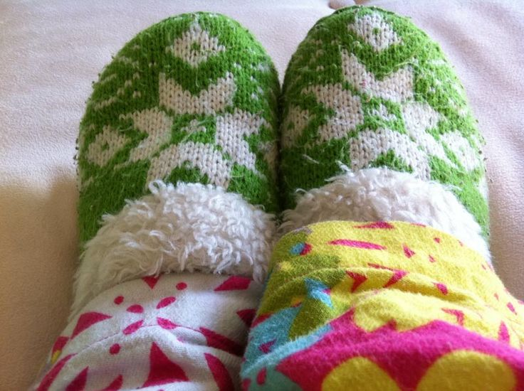 The feeling I get when my toes are warm & toasty. I get the same ...