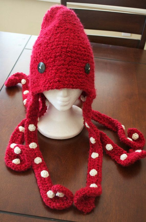 Crochet Octopus Hat : hat crochet