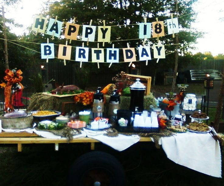 My nephew 39 s 18th birthday party wagon party decor for 18 birthday decoration ideas