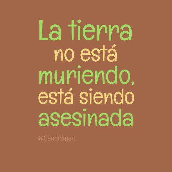 """La #Tierra no esta muriendo, esta siendo #Asesinada"""". #Citas #Frases"""