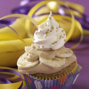 Bananas Foster Surprise Cupcakes