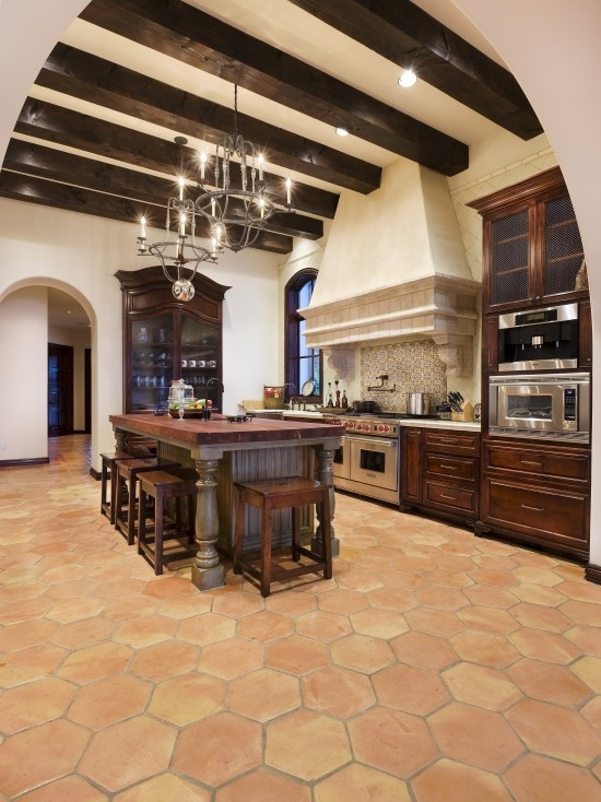 Mediterranean kitchen design kitchens pinterest for Floors of the house in spanish