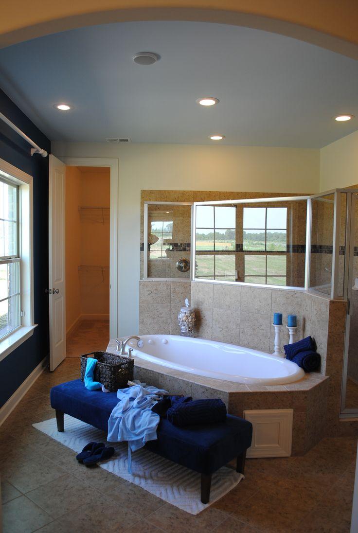 Master Bathroom With Walk Thru Shower House Ideas