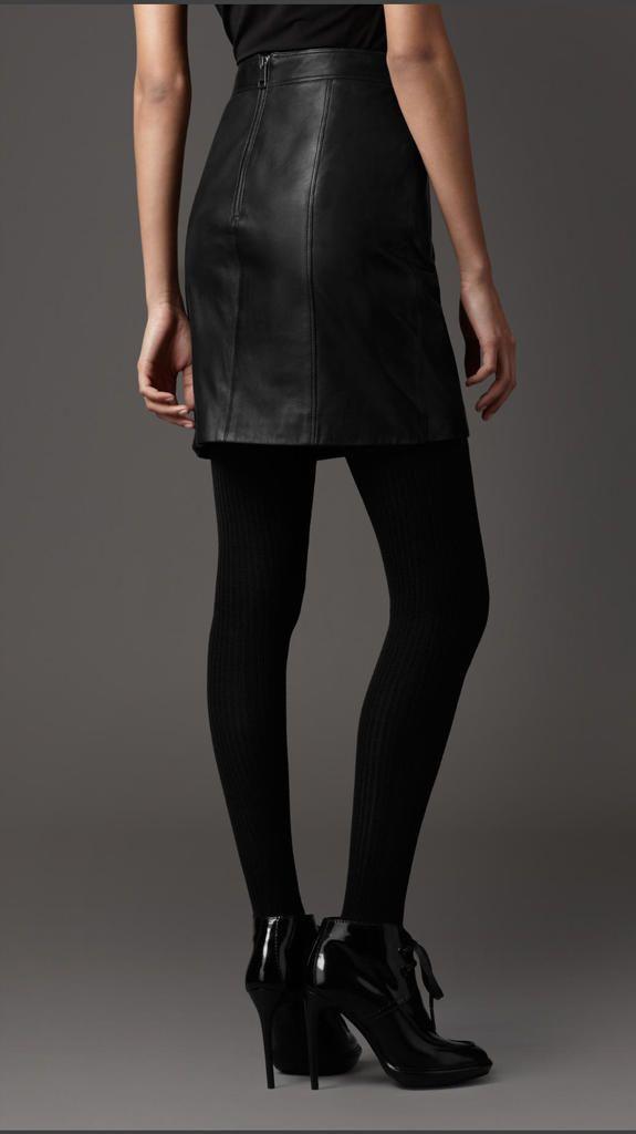 high waisted leather skirt salliestylerrific