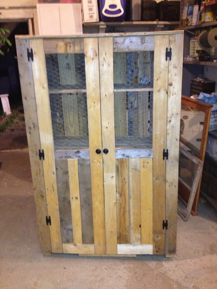 pallet wood jelly cabinet cabinets pinterest