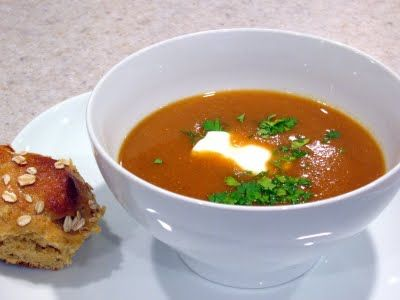 Happy Turkey Day Everyone! Red Lentil Apricot Soup