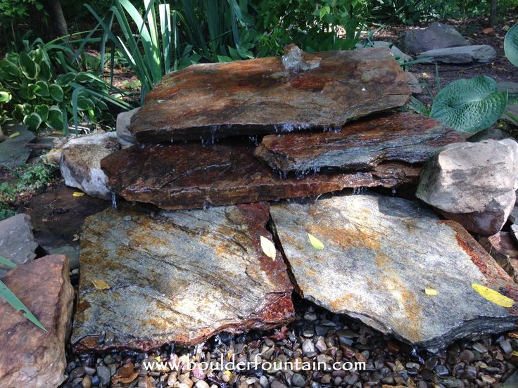 Diy Pondless Waterfall In Less Than 4 Hours Garden Fountains Pinterest