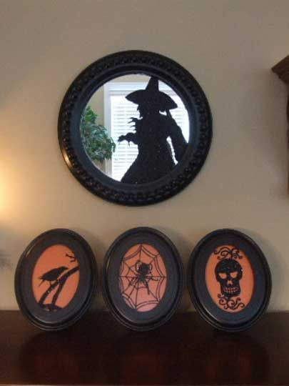 witch silhouette mirror