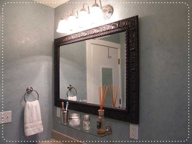 Diy bathroom remodel making our house a home pinterest - Bathroom remodel diy ...
