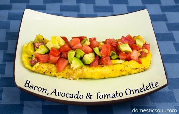 Bacon Avocado & Tomato Omelette: Fresh tomatoes, creamy avocado and a ...