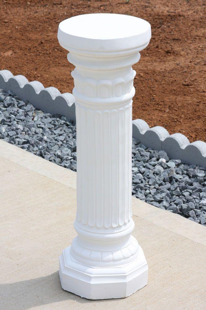Pedestal 27 3 4 Quot Plant Stand Roman Style Column White