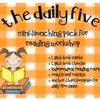 FREEBIE! This packet contains resources that focus on some of the Daily 5 ideas. Items included are:I-Pick Book MarksI-Pick Book ChecksIndep...