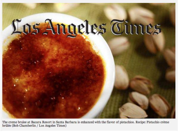 Recipe: Pistachio creme brulee from Santa Barbara's Bacara Resort ...