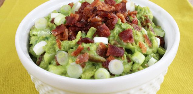 Bacon & Green Onion Guacamole (AIP Paleo). Made this without the ...