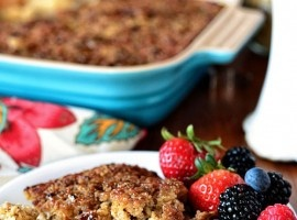 Creme Brulee Baked Oatmeal | Recipe