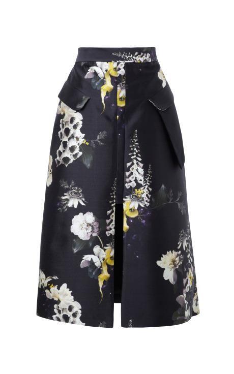 Vreeland Floral-Print Cotton-Blend Skirt by Ellery Now Available on Moda Operandi
