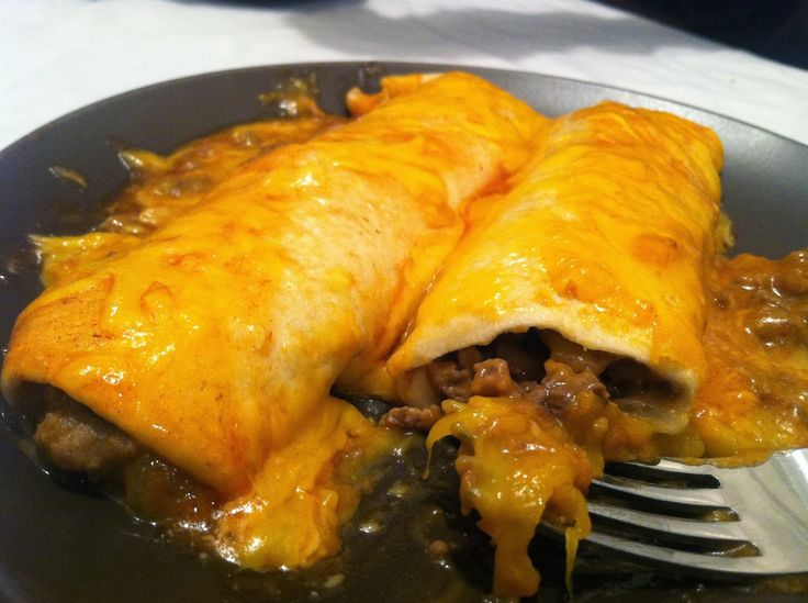 Easy cheesy beef enchiladas | recipes to try | Pinterest