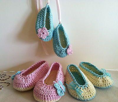 Ballet Slippers Crochet baby Girl Shoes - Ballet Slippers