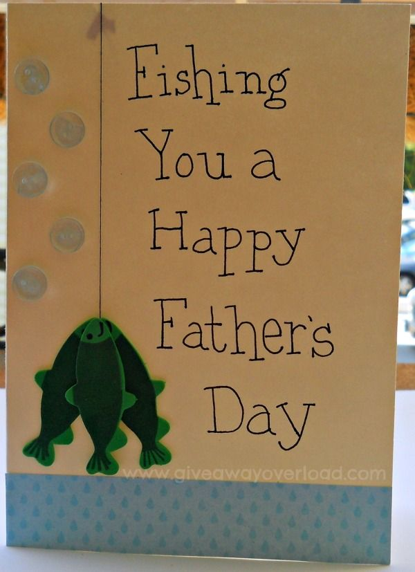 fishing father 39 s day card cards pinterest