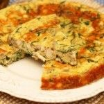 Frittata with Chicken, Arugula and Mushrooms