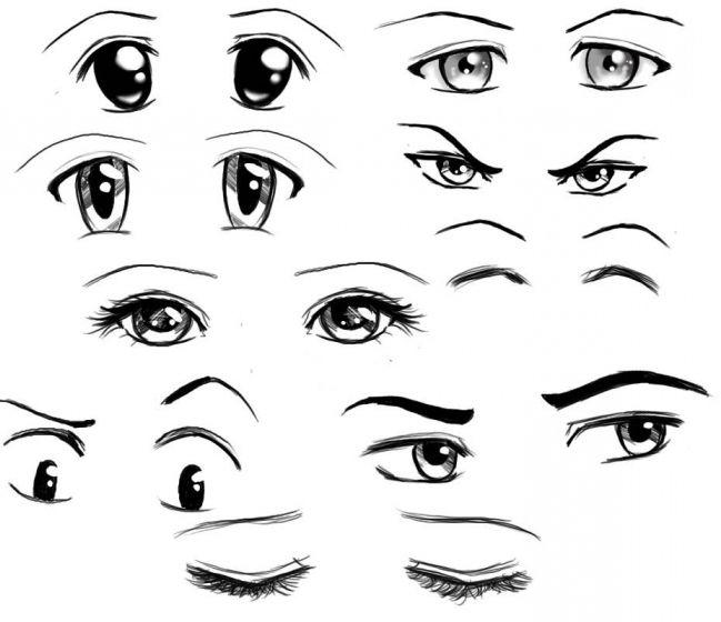 Как нарисовать аниме глаза карандашом поэтапно для начинающих