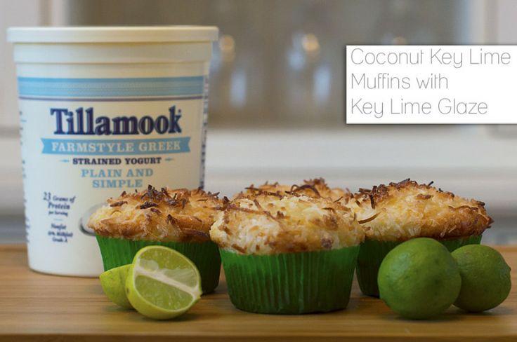 Coconut Key Lime Muffins with Key Lime Glaze