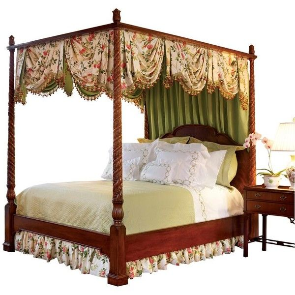 mahogany four poster bed w canopy frame 3 950 liked on