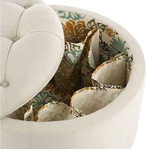 Safavieh Paris Beige Shoe Storage Ottoman | eBay