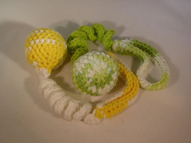 Cat Toys, Cat Teasers - JINGLE BOUNCY BALL  Crocheted. $5.99, via Etsy.