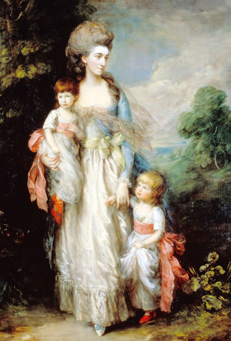 Thomas Gainsborough. Portrait of Mrs. Elizabeth Moody with her sons Samuel and Thomas, 1785.