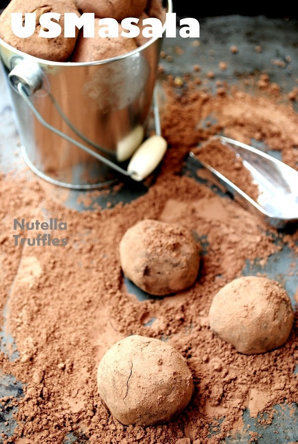 US Masala: Dark chocolate nutella Truffles