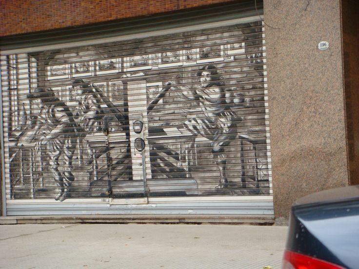 Painted garage door | Garage Doors | Pinterest