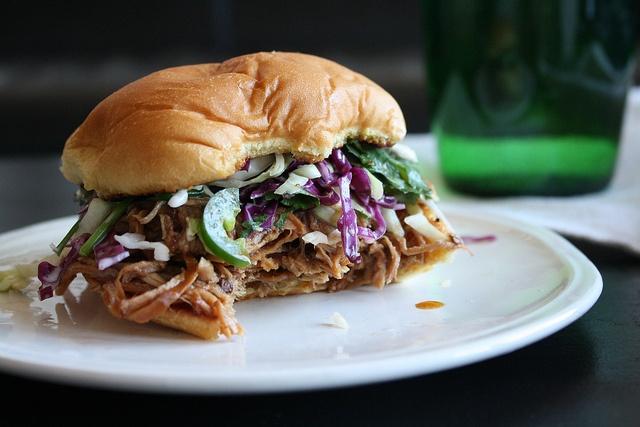 Pork Sandwiches With Cilantro-Jalapeno Slaw Recipe — Dishmaps